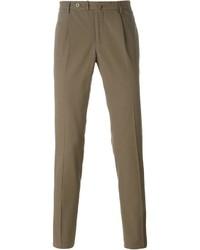 Pantaloni eleganti marroni di Incotex