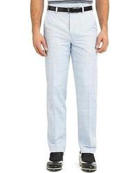 Pantaloni eleganti scozzesi azzurri