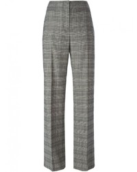 Pantaloni eleganti scozzesi grigi