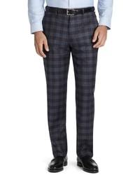Pantaloni eleganti scozzesi grigio scuro