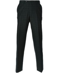 Pantaloni eleganti scozzesi grigio scuro di Ermenegildo Zegna