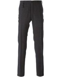 Pantaloni eleganti scozzesi grigio scuro di Incotex