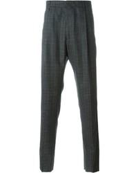 Pantaloni eleganti scozzesi grigio scuro di Lanvin