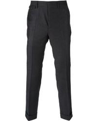 Pantaloni eleganti scozzesi grigio scuro di Mauro Grifoni