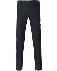 Pantaloni eleganti scozzesi grigio scuro di Pt01