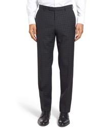Pantaloni eleganti scozzesi neri