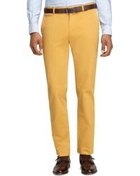 Pantaloni eleganti senapi