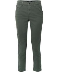Pantaloni eleganti verde scuro di J Brand