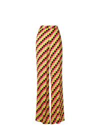Pantaloni larghi a quadri multicolori di Etro