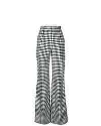 Pantaloni larghi a quadri neri e bianchi