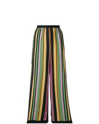 Pantaloni larghi a righe verticali multicolori di A.N.G.E.L.O. Vintage Cult