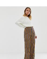 Pantaloni larghi a righe verticali multicolori di Reclaimed Vintage