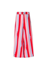 Pantaloni larghi a righe verticali multicolori di Vivetta