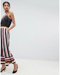 Pantaloni larghi a righe verticali multicolori di Y.a.s