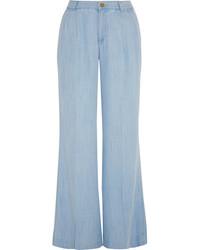 Pantaloni larghi azzurri