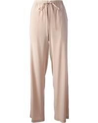 Pantaloni larghi beige