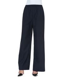 Pantaloni larghi blu scuro