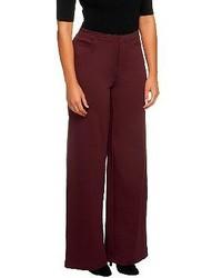 Pantaloni larghi bordeaux