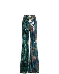 Pantaloni larghi con paillettes multicolori di Halpern