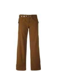 Pantaloni larghi decorati marroni di Romeo Gigli Vintage