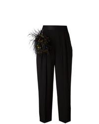 Pantaloni larghi decorati neri di Christopher Kane