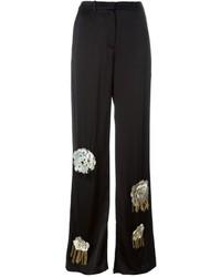 Pantaloni larghi decorati neri di Ports 1961