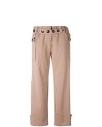 Pantaloni larghi decorati rosa di Romeo Gigli Vintage