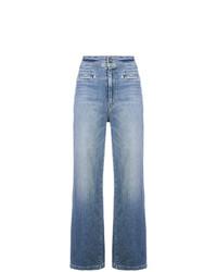 Pantaloni larghi di jeans azzurri di Mother