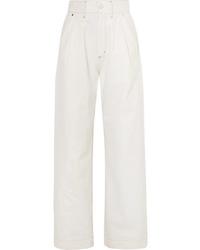 Pantaloni larghi di jeans bianchi di Goldsign