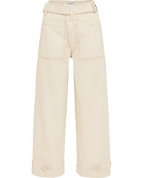 Pantaloni larghi di jeans bianchi di Mugler