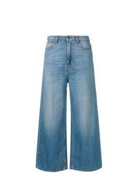 Pantaloni larghi di jeans blu