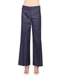 Pantaloni larghi di jeans blu scuro