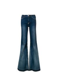 Pantaloni larghi di jeans blu scuro di Philipp Plein