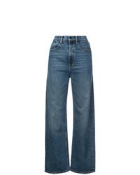Pantaloni larghi di jeans blu di Alexander Wang