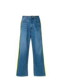 Pantaloni larghi di jeans blu di Facetasm