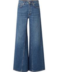 Pantaloni larghi di jeans blu di Ganni