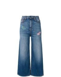 Pantaloni larghi di jeans blu di Vivetta
