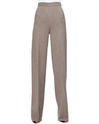 Pantaloni larghi di lana grigi