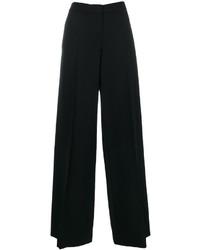 Pantaloni larghi di lana neri di Alexander McQueen