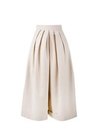 Pantaloni larghi di lino beige di DELPOZO