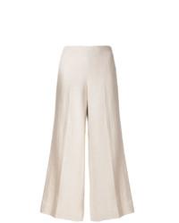 Pantaloni larghi di lino beige di Theory
