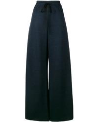 Pantaloni larghi di lino blu scuro di ADAM by Adam Lippes