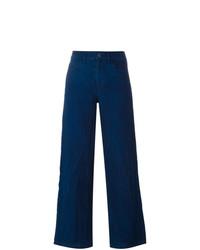 Pantaloni larghi di lino blu scuro di Simon Miller