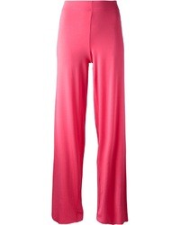 Pantaloni larghi fucsia