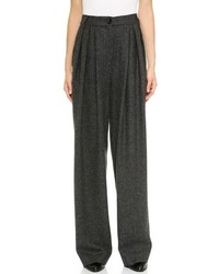 Pantaloni larghi grigio scuro