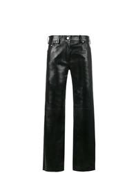 Pantaloni larghi in pelle neri di Calvin Klein 205W39nyc