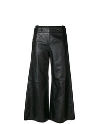 Pantaloni larghi in pelle neri di Golden Goose Deluxe Brand