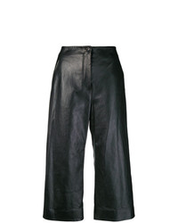 Pantaloni larghi in pelle neri di Nehera