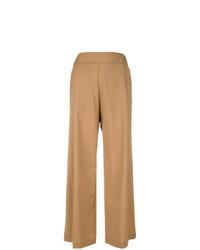 Pantaloni larghi marrone chiaro