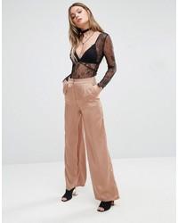 Pantaloni larghi marrone chiaro di Glamorous